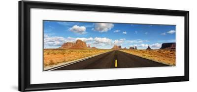 Road, Monument Valley, Arizona, USA--Framed Photographic Print
