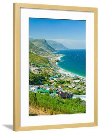Elevated scenic views on the way to Cape Point, Cape of Good Hope, outside of Cape Town, South A...--Framed Photographic Print