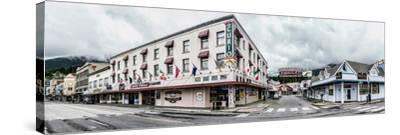Buildings in a city, Ketchikan, Southeast Alaska, Alaska, USA--Stretched Canvas Print