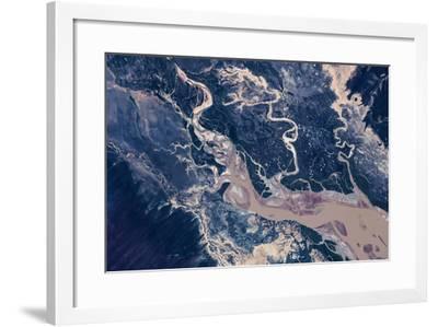 Satellite view of estuary, Camballin, Western Australia, Australia--Framed Photographic Print