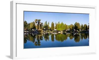 Terrible's Lakeside Casino RV Park reflected in lake in Pahrump, Nye County, Nevada, USA--Framed Photographic Print