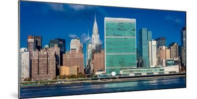 Skyline of Midtown Manhattan seen from the East River showing the Chrysler Building and the Unit...--Mounted Photographic Print