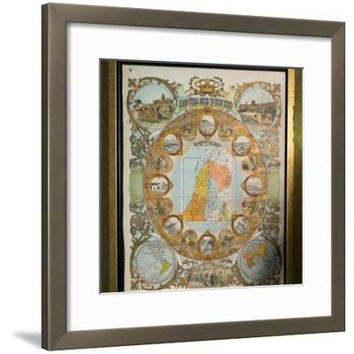 Paintings mounted on the wall in Yosef Caro Synagogue, Safed (Zfat), Galilee, Israel--Framed Photographic Print