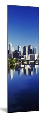 Schuylkill River with skyscrapers in the background, Philadelphia, Pennsylvania, USA--Mounted Photographic Print