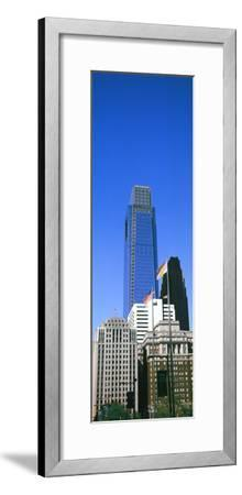 Low angle view of skyline in Downtown Philadelphia, Pennsylvania, USA--Framed Photographic Print