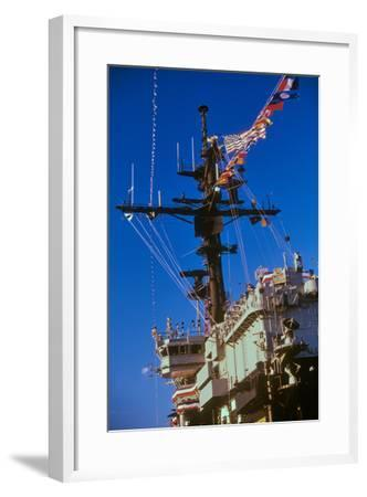 Flight Deck of the USS Kennedy Aircraft Carrier, New York City, New York--Framed Photographic Print