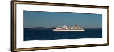 Cruise ship in Atlantic ocean, Bar Harbor, Mount Desert Island, Hancock County, Maine, USA--Framed Photographic Print