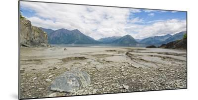 Turnagain Arm with Chugach Mountains in the background, Alaska, USA--Mounted Photographic Print