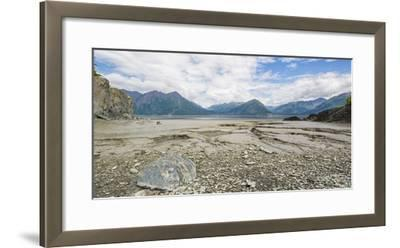 Turnagain Arm with Chugach Mountains in the background, Alaska, USA--Framed Photographic Print