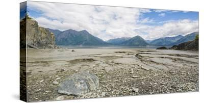 Turnagain Arm with Chugach Mountains in the background, Alaska, USA--Stretched Canvas Print