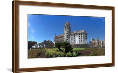 Plaza De Catalunya, Barcelona, Catalonia, Spain--Framed Photographic Print