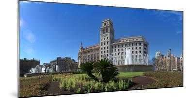 Plaza De Catalunya, Barcelona, Catalonia, Spain--Mounted Photographic Print