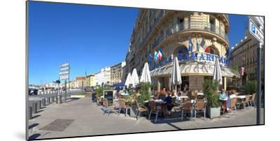 People at sidewalk cafe, Marseille, Bouches-Du-Rhone, Provence-Alpes-Cote D'Azur, France--Mounted Photographic Print