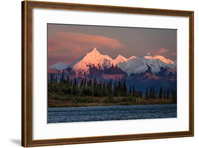 Mount Denali, previously known as McKinley from Wonder Lake, Denali National Park, Alaska--Framed Photographic Print