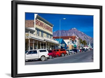 View of Seward, Alaska storefronts--Framed Photographic Print