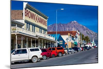 View of Seward, Alaska storefronts--Mounted Photographic Print
