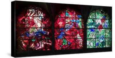 Stained glass Chagall Windows at Hadassah Medical Centre, Jerusalem, Israel--Stretched Canvas Print