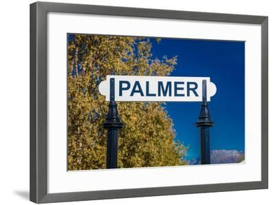 Palmer, Alaska, United States - train station--Framed Photographic Print