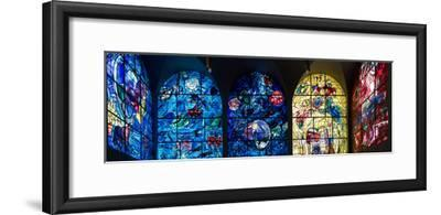 Stained glass Chagall Windows at Hadassah Medical Centre, Jerusalem, Israel--Framed Photographic Print