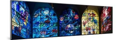 Stained glass Chagall Windows at Hadassah Medical Centre, Jerusalem, Israel--Mounted Photographic Print