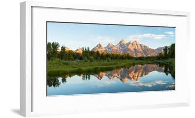 River with Teton Range in the background, Grand Teton National Park, Wyoming, USA--Framed Photographic Print