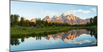 River with Teton Range in the background, Grand Teton National Park, Wyoming, USA--Mounted Photographic Print