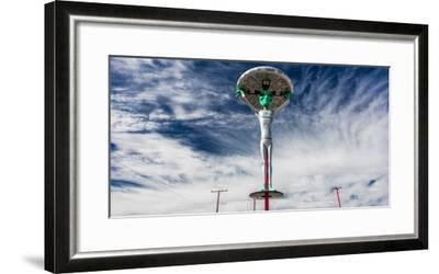 """October 12, 2016 - """"Alien Fresh Jerkey"""" Baker, CA - a depiction of a Alient and Extraterrestrial...--Framed Photographic Print"""