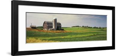 Barn in a field, Wisconsin, USA--Framed Photographic Print