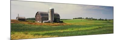 Barn in a field, Wisconsin, USA--Mounted Photographic Print