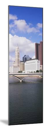 Bridge across the Scioto River with skyscrapers in the background, Columbus, Ohio, USA--Mounted Photographic Print