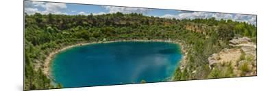 Elevated view of the lagoon, Lagunas de Canada del Hoyo, Serrania de Cuenca, Cuenca, Castilla-La...--Mounted Photographic Print