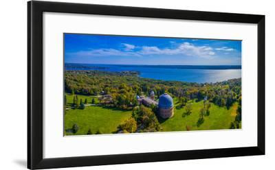 Aerial view of an observatory, Yerkes Observatory, Williams Bay, Wisconsin, USA--Framed Photographic Print