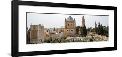Church of Hagia Maria Abbey and Christian Cemetery, Jerusalem, Israel--Framed Photographic Print