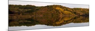 Autumn foliage reflected in a small lake in central Wisconsin, USA--Mounted Photographic Print