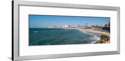 Skyline and Mediterranean Sea, Tel Aviv, Israel--Framed Photographic Print