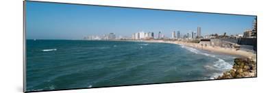 Skyline and Mediterranean Sea, Tel Aviv, Israel--Mounted Photographic Print