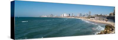 Skyline and Mediterranean Sea, Tel Aviv, Israel--Stretched Canvas Print
