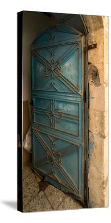 Open door, Safed (Zfat), Galilee, Israel--Stretched Canvas Print
