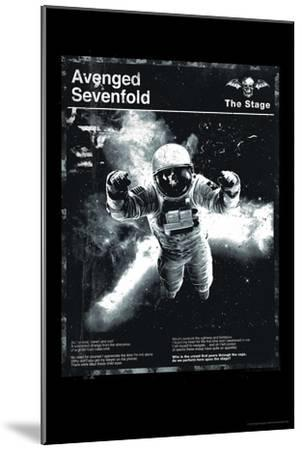 Avenged Sevenfold - Black and White Astronaut--Mounted Poster