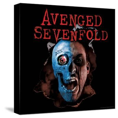 Avenged Sevenfold - A7X Two Face--Stretched Canvas Print