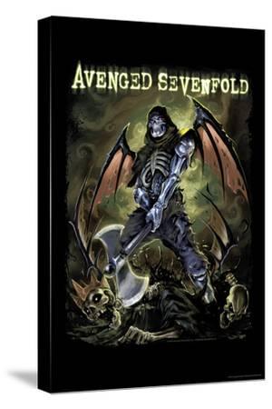 Avenged Sevenfold - Deathbat--Stretched Canvas Print