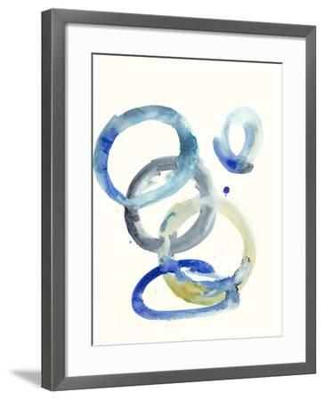 Watercolor Oval 4-Natasha Marie-Framed Premium Giclee Print
