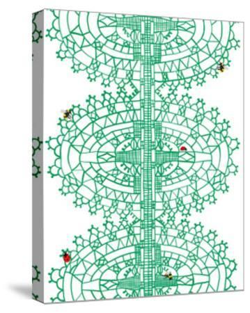 Bugs in Lace-Jorey Hurley-Stretched Canvas Print