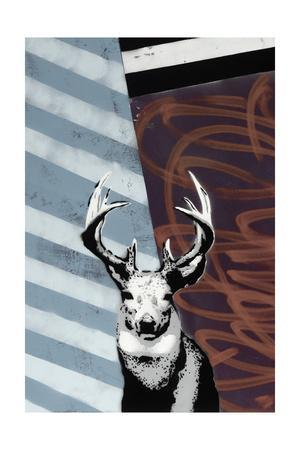 Deer - Recolor-Urban Soule-Stretched Canvas Print