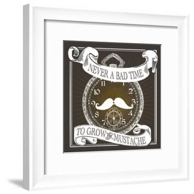 Grow the Stache-Cory Steffen-Framed Premium Giclee Print