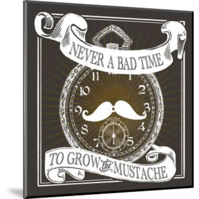 Grow the Stache-Cory Steffen-Mounted Premium Giclee Print