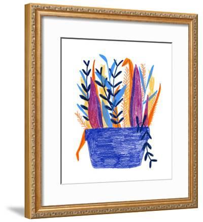Flowerpot 1-Erin Lin-Framed Premium Giclee Print