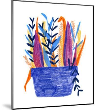 Flowerpot 1-Erin Lin-Mounted Premium Giclee Print