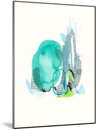 Mountain Abstract 6-Natasha Lawyer-Mounted Premium Giclee Print
