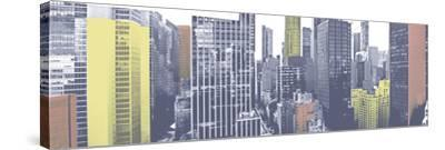 Pastel NYC Panorama-Jeff Pica-Stretched Canvas Print